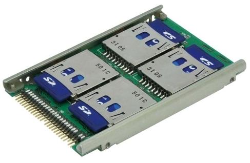 Lacný flashový pevný disk, redukcia z SD